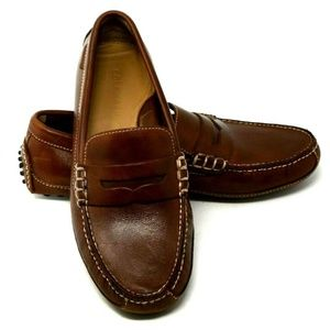 Cole Haan Mens 8M Driving Canoe Moccasins Loafers